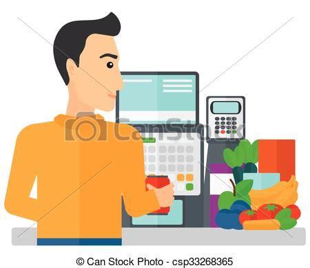 Checkout Register Cashier cashier at supermarket checkout a cashier at supermarket