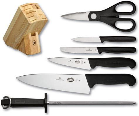 victorinox kitchen knives set vn48900 victorinox seven piece kitchen knife set