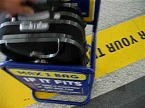 ryanair baggage size check gauge ryanair hand baggage see if it fits youtube