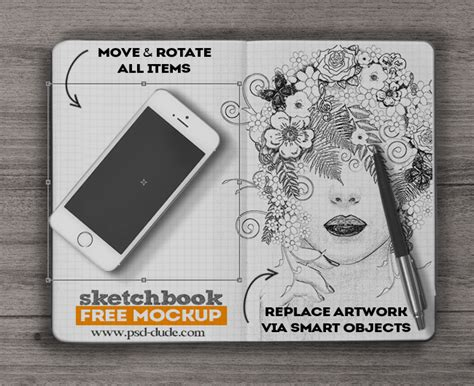 sketchbook how to use 18 sketchbook psd mockups to display your sketches psdshare