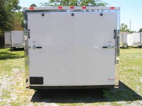 enclosed 8 5x14 tandem axle cart trailer w r door 3786 fayetteville motorcycle trailer