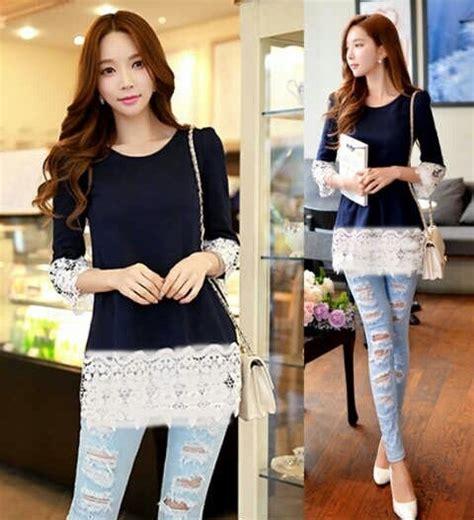 Jual Blouse Xl Atasan Wanita Blouse 0 Qie baju atasan wanita blouse cantik model terbaru modis