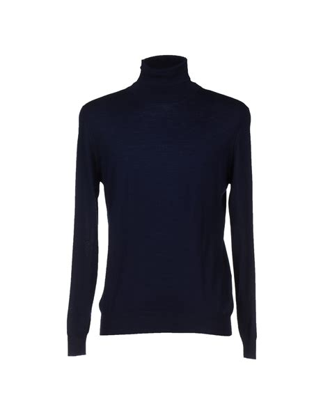 mens light blue turtleneck sweater altea turtleneck in black for men dark blue lyst