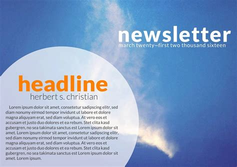 Where Can You Find A Newsletter Template News Letter Templates