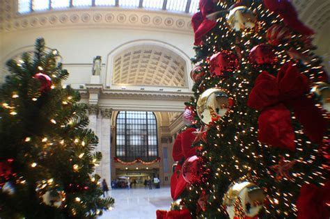 treetime decorates union station s great hall in