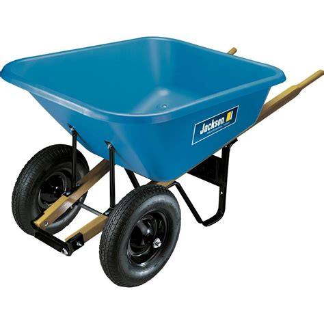 jackson 8 cu ft poly wheelbarrow bp8j the home depot
