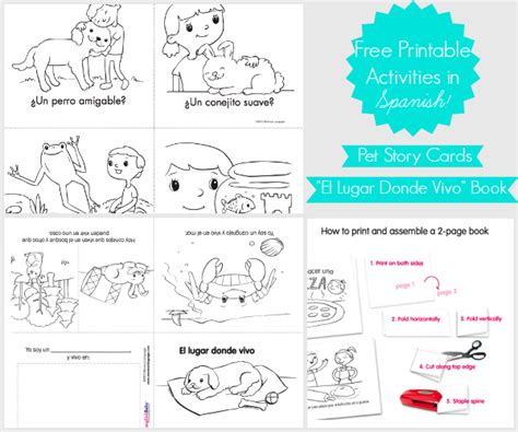 printable picture books free story cards book printable in spanishspanglishbaby