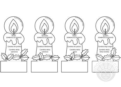candele di avvento le candele di avvento da colorare tuttodisegni