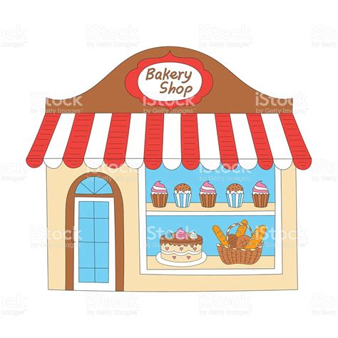 shop layout vector bakery shop building vector illustration stock vector art