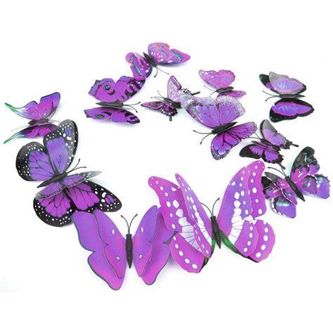 Stiker Dinding Kupu Kupu Motif Abstrak 12pcs stiker hias dinding kupu kupu 12 pcs purple jakartanotebook