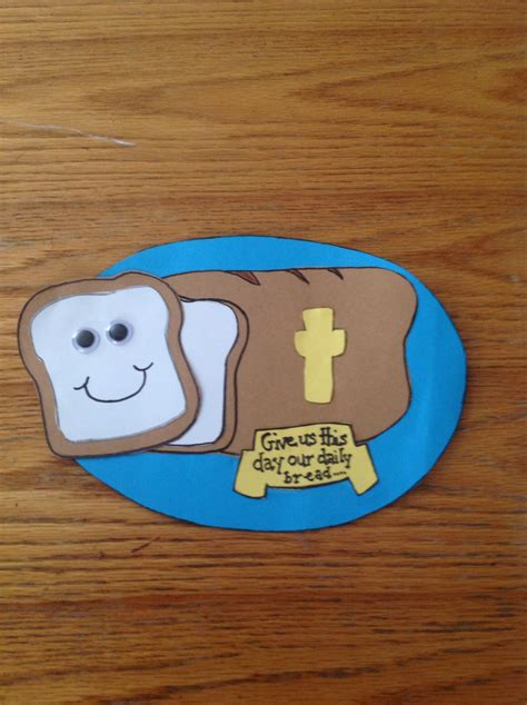 religious crafts our daily bread bible craft for children s church