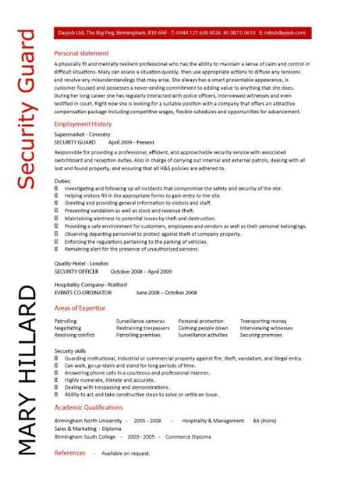security resume objective statement examples beautiful create my