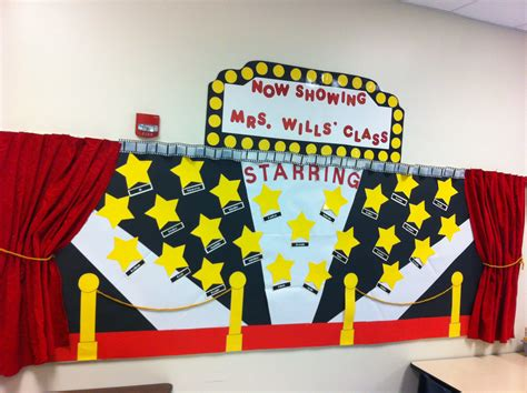 themes for college r walk my hollywood movie themed bulletin board classroom