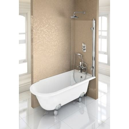freestanding shower bath bath burlington hton shower bath 150 x 75cm rh