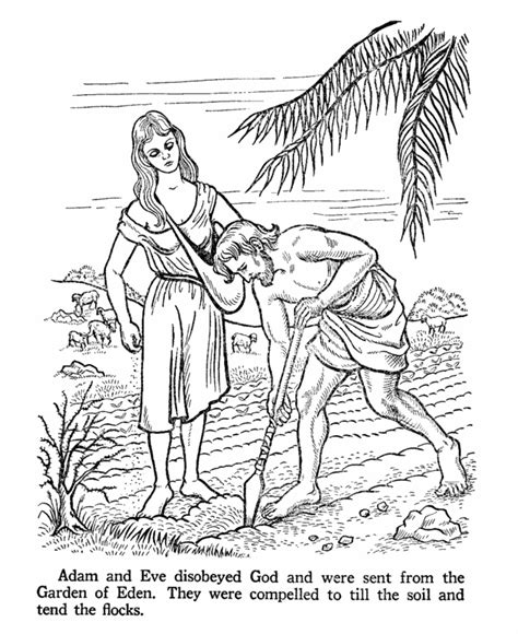 coloring pages of the garden of eden adam working in the garden of eden coloring page ask