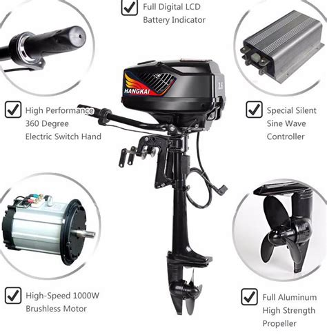 5hp boat motor 48v 5hp electric outboard motor