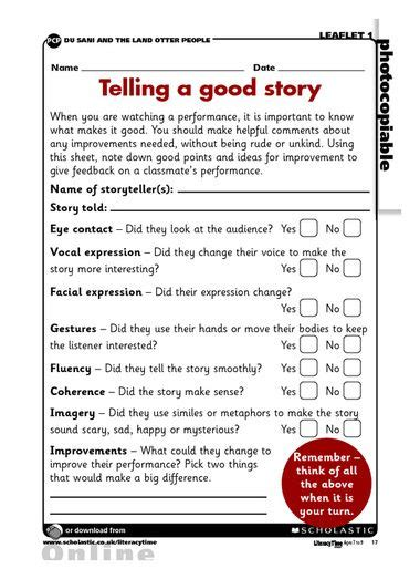 telling  good story evaluation report assessment reading projects writing workshop