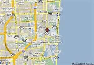 map of hton inn hallandale aventura hallandale