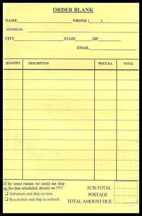blank printable order forms blank order form pictures to pin on pinterest pinsdaddy