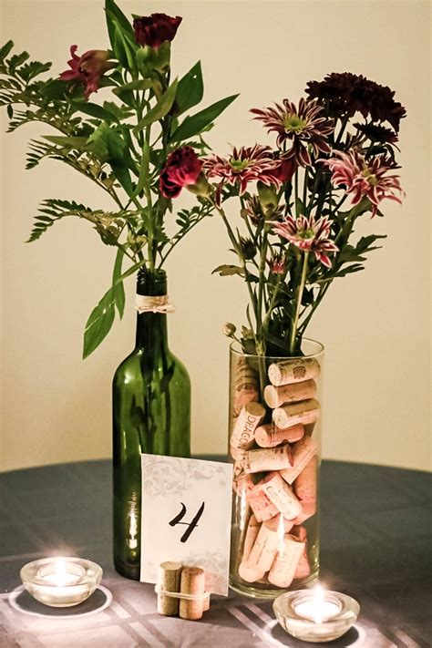 how to make your own wedding centerpieces make your own wine themed centerpieces for 5