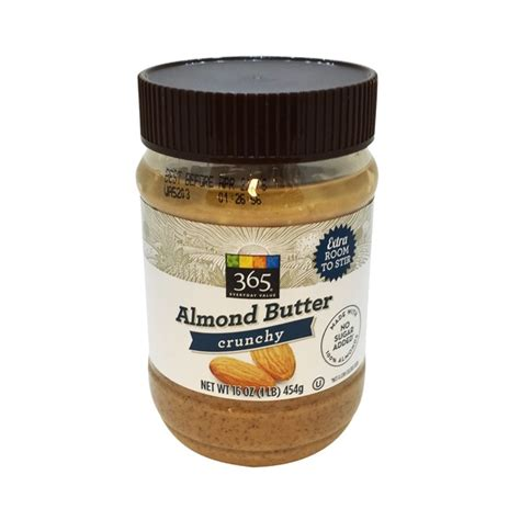From The Supermarket Almond by 365 Crunchy Almond Butter 16 Oz From Whole Foods Market