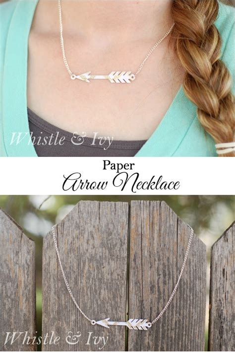 How To Make A Whistle Out Of Paper - paper arrow necklace silhouette tutorial whistle and