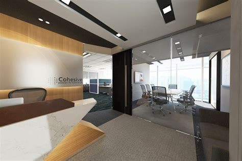 office renovation interior design for cohesive shipping at raffles place in