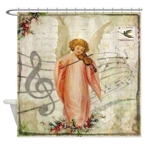 angel shower curtains vintage christmas angel shower curtain by admin cp59133934