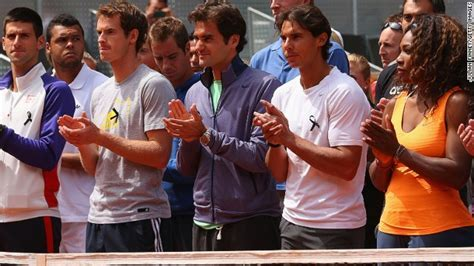 Tennis stars Federer and Nadal honor Drewett   'a very