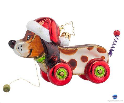 Radko Ornaments Sale - 1017738 christopher radko pullin pup ornament