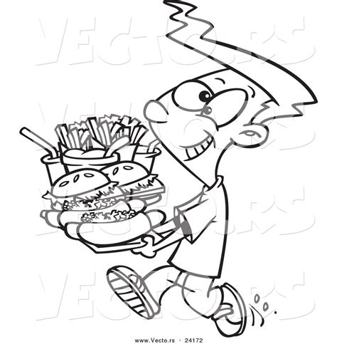 coloring pages of cartoon food free coloring pages of eating junk food