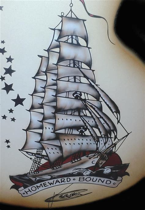 sailor jerry ship tattoo designs jr custom paint and design sailor jerry