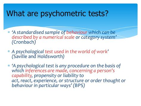 psychometric test psychometric test