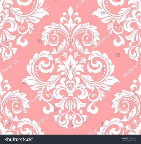pink and white pattern wallpaper floral pattern wallpaper baroque damask seamless stock