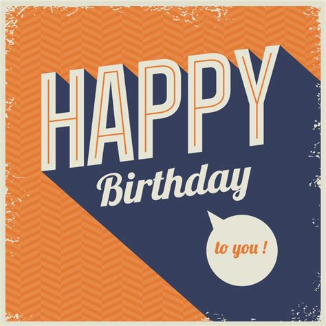 happy birthday vintage design happy birthday retro mottled vector free vector graphic