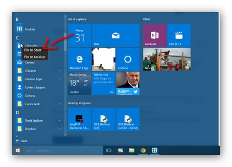 configuring the windows 10 start menu 4sysops