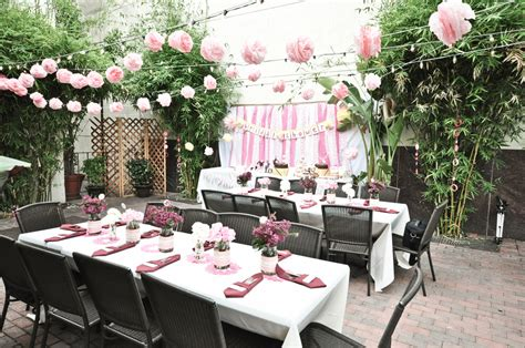 bridal shower dinner table a very pink hello kitty bridal shower bridal musings