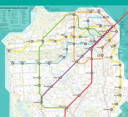 san francisco muni map muni metro san francisco map