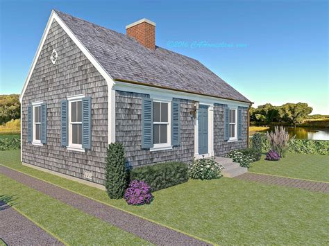 tiny cape cod colonial revival traditional style house