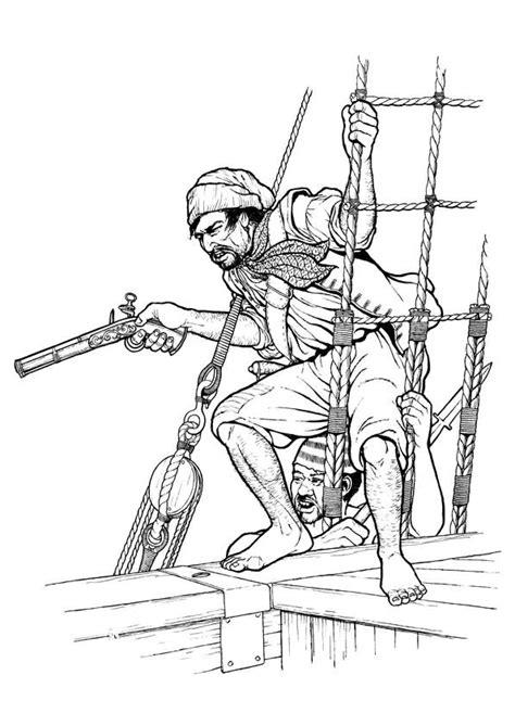 Coloriage Pirates à l'Abordage