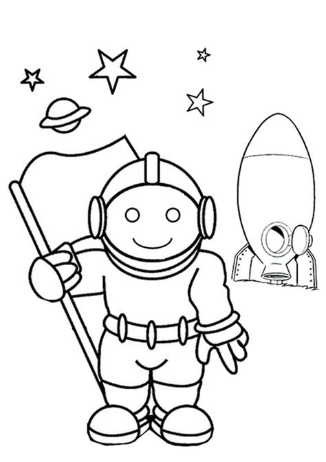 Astronaut Template Preschool Page 2 Pics About Space Astronaut Coloring Pages