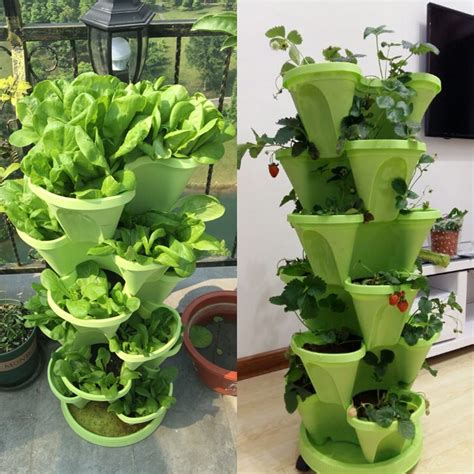 tier stackable strawberry herb flower vegetable planter