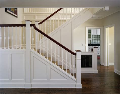 Banister Vs Baluster Staircase Trim Ideas Staircase Traditional With White