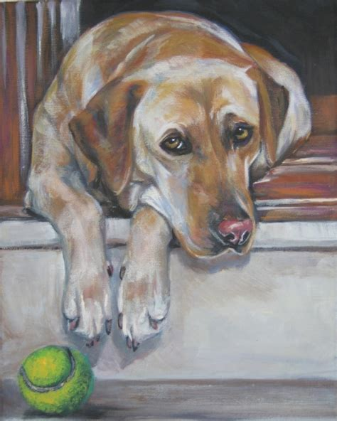 Labrador Retriever Artwork by Labrador Retriever Art Print Canvas Print Of La Shepard