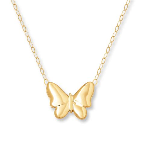 jewelry necklaces jared butterfly necklace 14k yellow gold