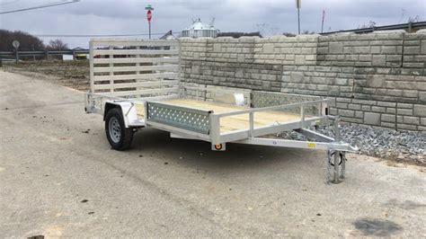qsa 7x12 aluminum utility landscape trailer 2990 atv