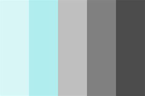 grey color schemes gray pale turquoise color palette