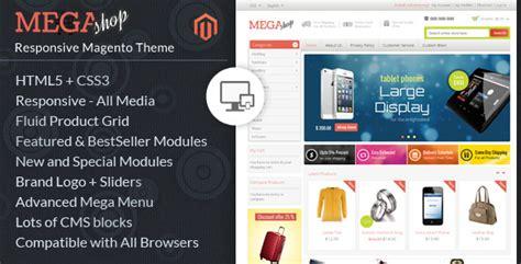 Mega Shop Magento Responsive Template By Templatemela Themeforest Mega Shop Template
