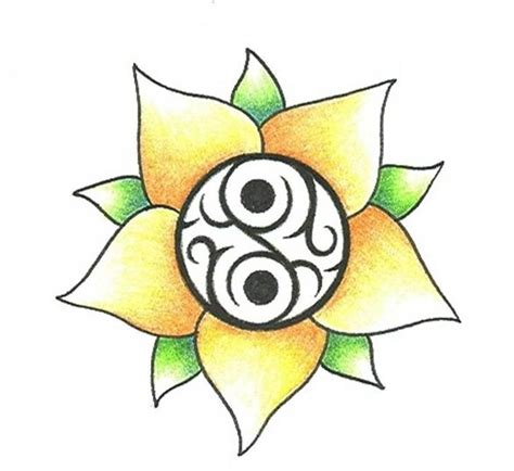 yin yang flower tattoo yin yang images designs