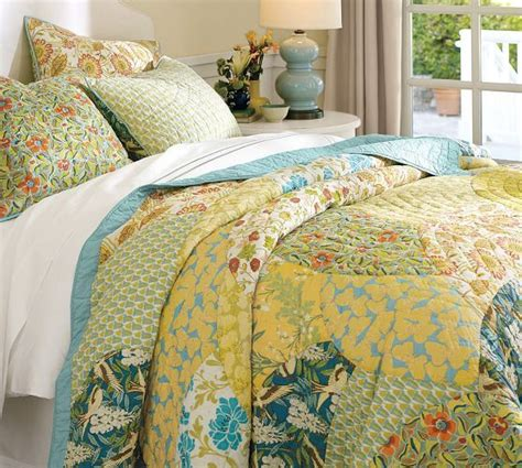 Pottery Barn Patchwork Quilt - scalloped organic patchwork quilt sham pottery barn